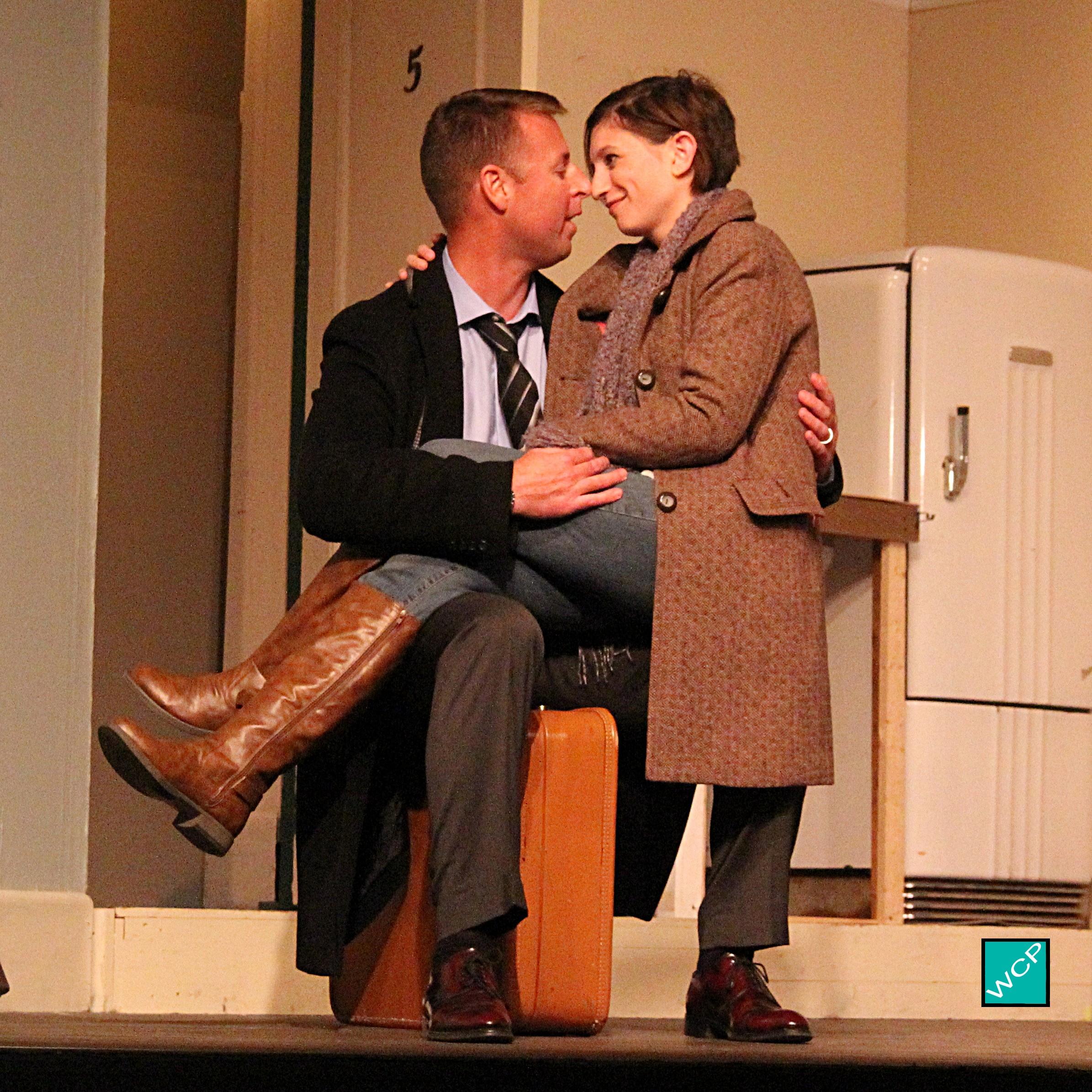 [l-r] Brian Remo as Paul, Debbie Campanali as Corie