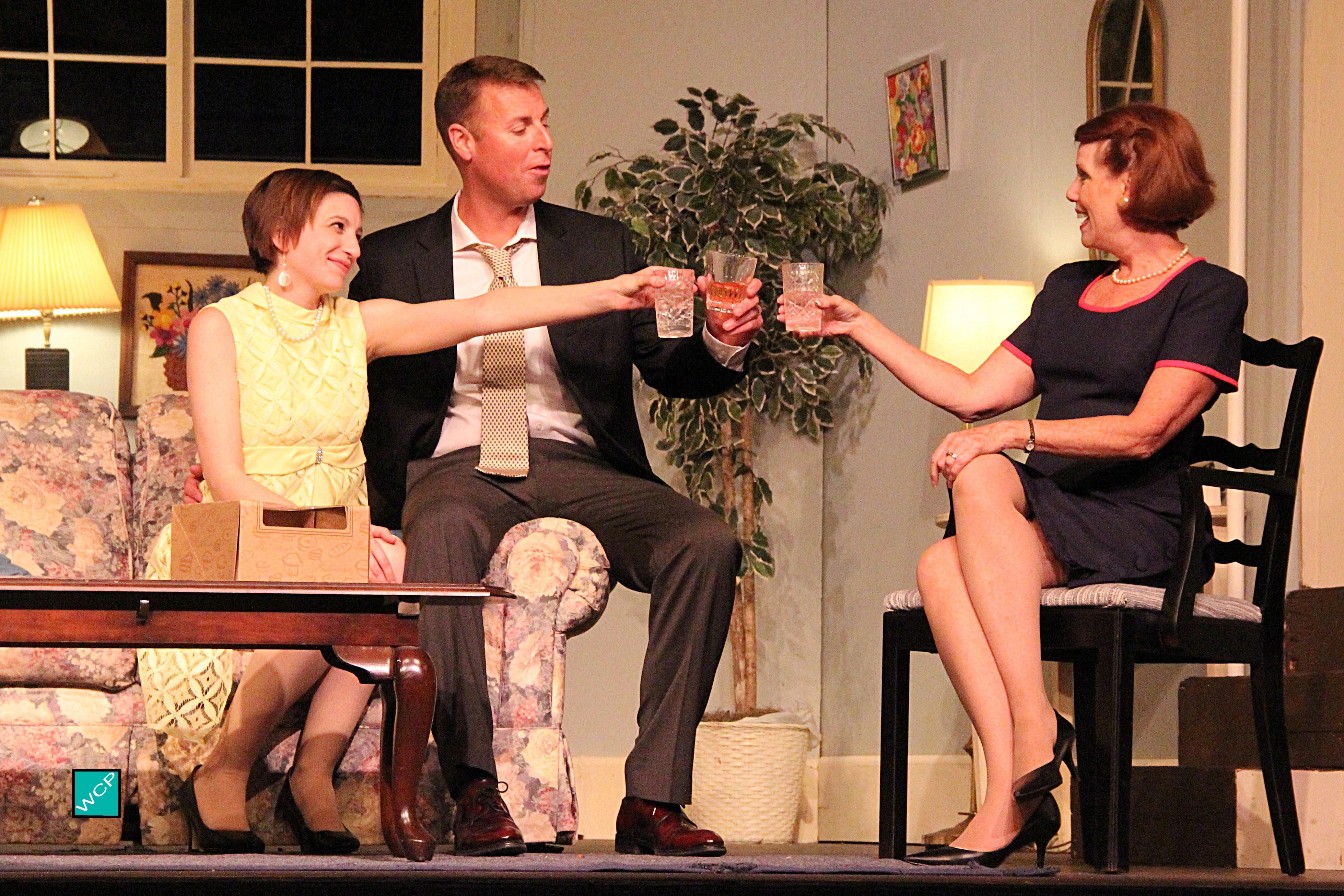 [l-r]Debbie Campanali as Corie, Brian Remo as Paul, Zita Geoffroy-Heinz as Mrs. Banks